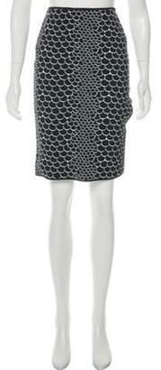 Herve Leger Intarsia Knee-Length Skirt Black Intarsia Knee-Length Skirt