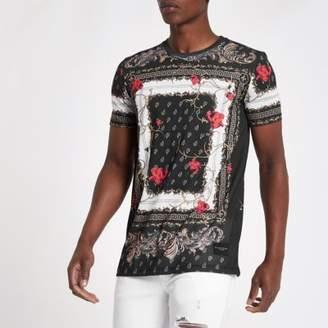 Criminal Damage black baroque print T-shirt