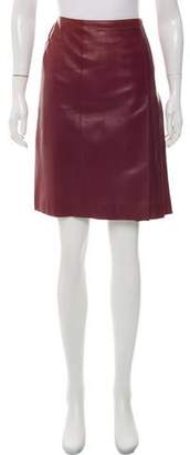 Chanel Leather Knee-Length Skirt