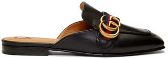 Gucci Black Peyton Slippers