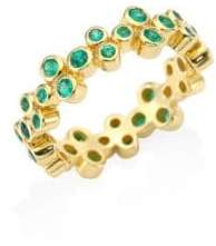 Temple St. Clair Trio Eternity Emerald Ring