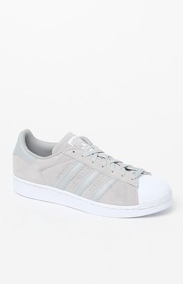 adidas Women's Gray Suede Superstar Sneakers $85 thestylecure.com