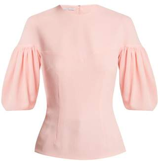 Emilia Wickstead Sybil Balloon Sleeve Crepe Blouse - Womens - Light Pink