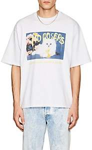 ADAPTATION / BORN X RAISED Men's Kitten-Print Cotton T-Shirt - White