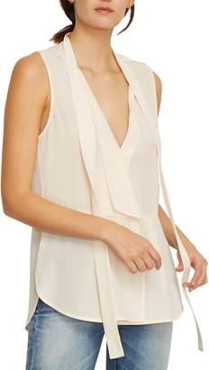 Habitual Clio Sleeveless Tie Neck Silk Blouse