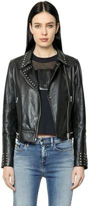 Studded Leather Biker Jacket $533 thestylecure.com