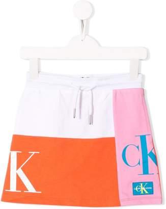 Calvin Klein Kids colour block mini skirt