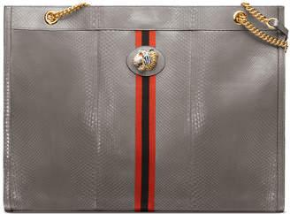Gucci Rajah Maxi Python Tote Bag