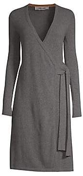 Diane von Furstenberg Women's Knitted Wrap Cashmere Dress