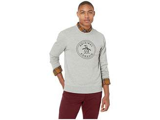 Original Penguin Long Sleeve Stamp Logo French Terry Crew