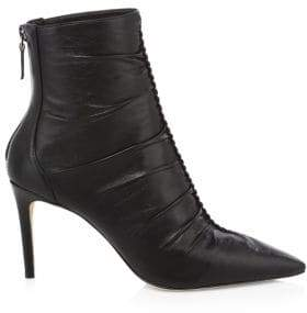 Alexandre Birman Susanna Leather Heeled Booties