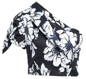 Marissa Webb Cropped One-shoulder Faille Top