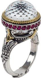 Konstantino Pythia Crystal & Corundum Ring