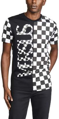Versus Checkerboard Split Tee