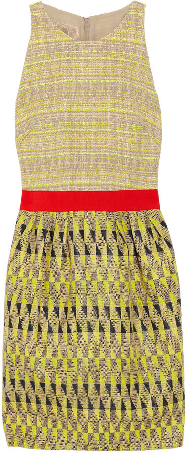 Giambattista Valli Patterned tweed dress