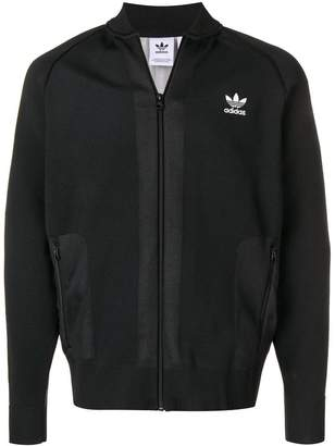 adidas chest logo zipped jumper