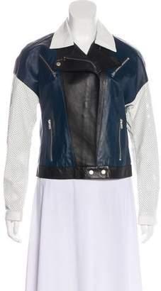 Jonathan Simkhai Leather Colorblock Jacket