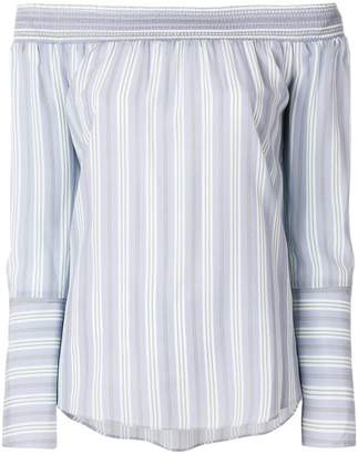 Steffen Schraut striped off shoulder blouse