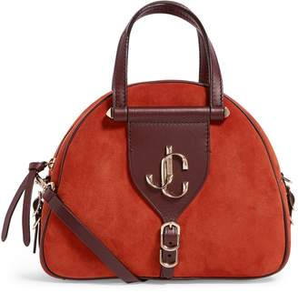 Jimmy Choo Small Suede Varenne Bowling Bag
