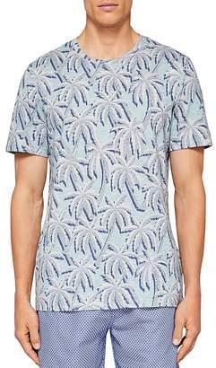 Ted Baker Road Palm Tree Print Swim Tee