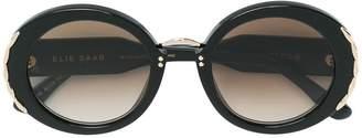 Elie Saab oversized round frame sunglasses