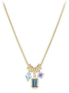 David Yurman Novella Pendant Necklace With Hampton Blue Topaz,