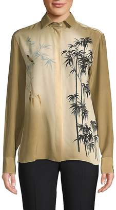 Valentino Women's Silk Button-Down Shirt
