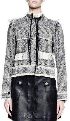 Lanvin Long-Sleeve Jean-Style Jacket, Ecru $3,365 thestylecure.com