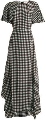 Diane von Furstenberg Fluted-sleeve Cossier-print silk dress