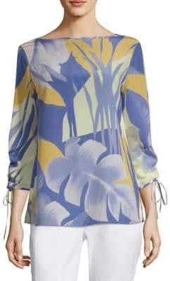 Lafayette 148 New York Georgina Floral Silk Blouse