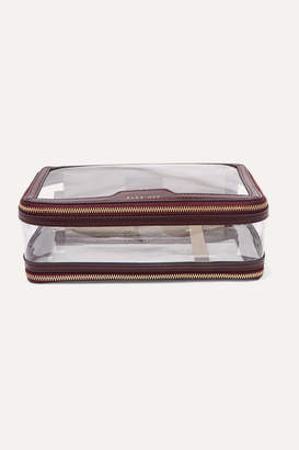 Anya Hindmarch Inflight Leather-trimmed Pvc Cosmetics Case - Burgundy