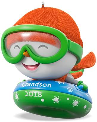 Hallmark Grandson Snowman 2018 Keepsake Christmas Ornament