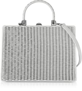 Rodo White Nappa Leather Satchel Bag