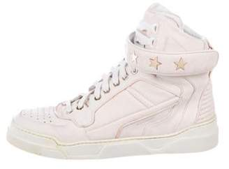 Givenchy Leather High-Top Sneakers Pink Leather High-Top Sneakers