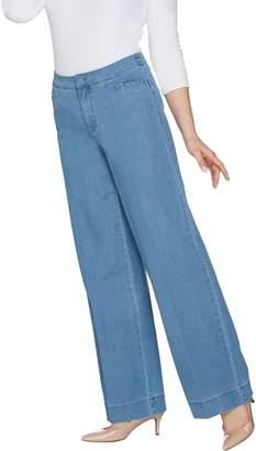 Isaac Mizrahi Live! Petite 24/7 Denim Wide Leg Pants