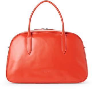 Jil Sander Navy Orange Leather Weekender