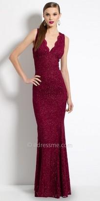 Camille La Vie Glitter Lace Trumpet Evening Dress $140 thestylecure.com