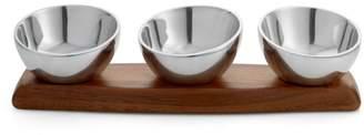 Nambe Luna Triple Condiment Bowl - 100% Exclusive