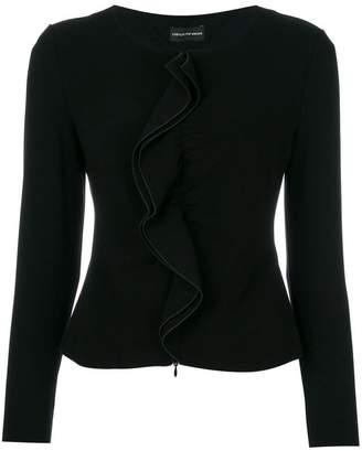 Emporio Armani ruffle detail jacket