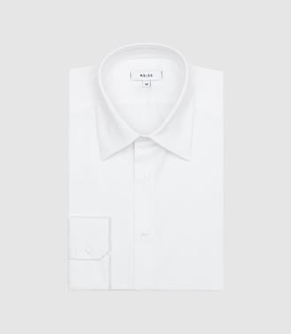 Gianna - Slim Fit Stretch Shirt in White