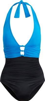 Ralph Lauren Slimming Halter Swimsuit