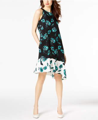 Alfani Printed Asymmetrical Dress, Created for Macy's