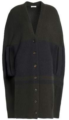 Brunello Cucinelli Cape-effect Ribbed Cashmere Cardigan