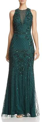 Adrianna Papell Sleeveless Beaded Gown