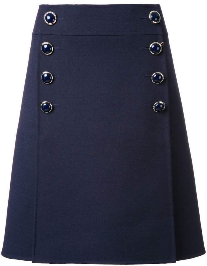 Michael Kors buttoned A-line skirt