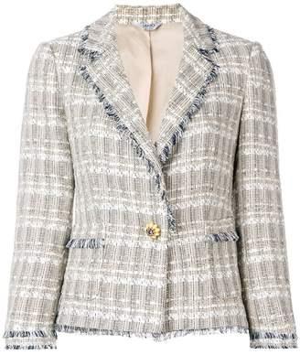 Liu Jo frayed edges tweed jacket