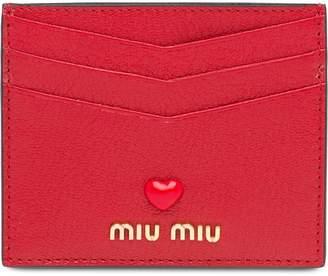 Miu Miu Madras Love card holder