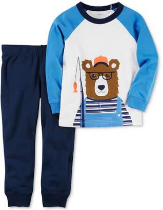 Carter's 2-Pc. Cotton Bear T-Shirt & Jogger Pants Set, Baby Boys