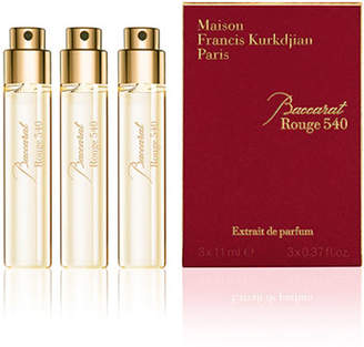 Francis Kurkdjian Baccarat Rouge 540 Extrait de Parfum Refills, 3 x 0.37 oz./ 11 mL