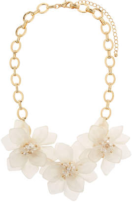 Fragments for Neiman Marcus Flower Statement Necklace, White